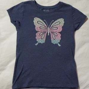 Girls butterfly graphic t-shirt
